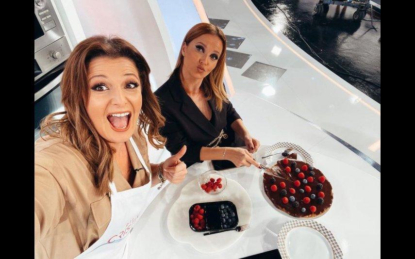 Maria Botelho Moniz com Cristina Ferreira