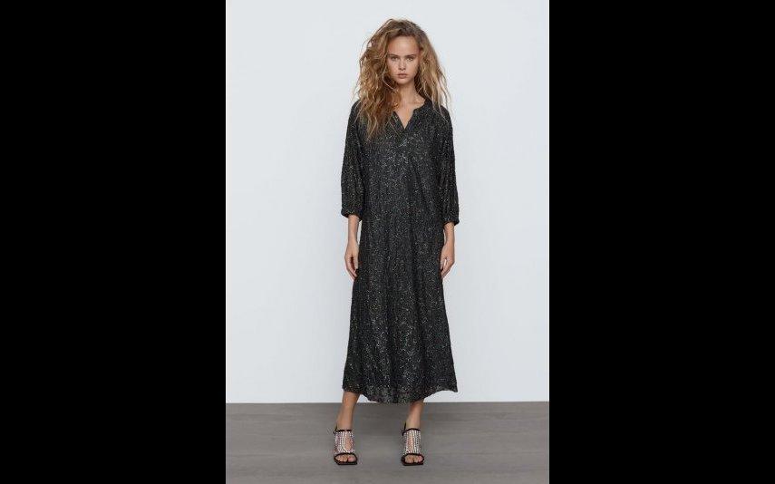 Vestido de lantejoulas limited edition detalhe Zara - 79,95€