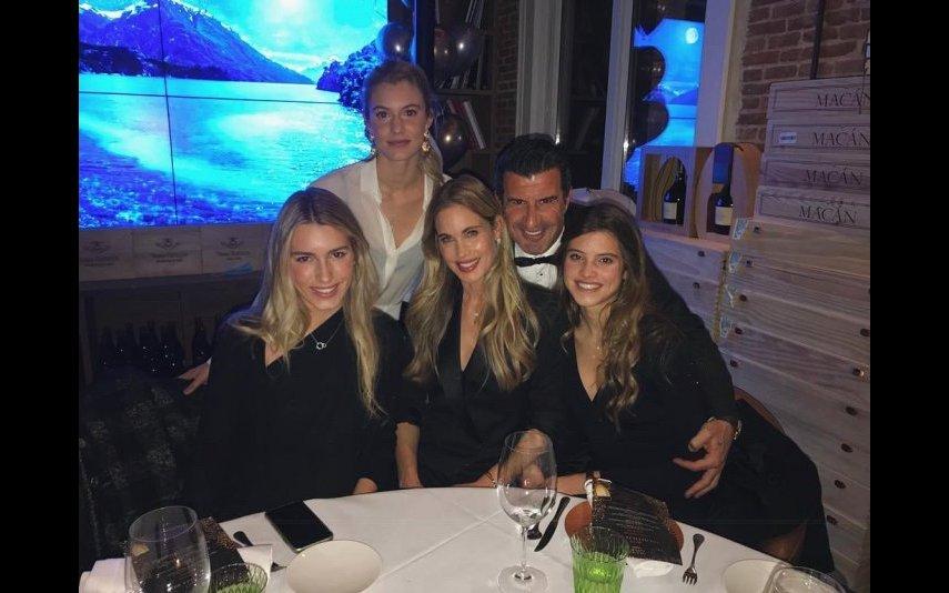 Luís Figo e a família estiveram a passar as férias de Natal numa estância de esqui