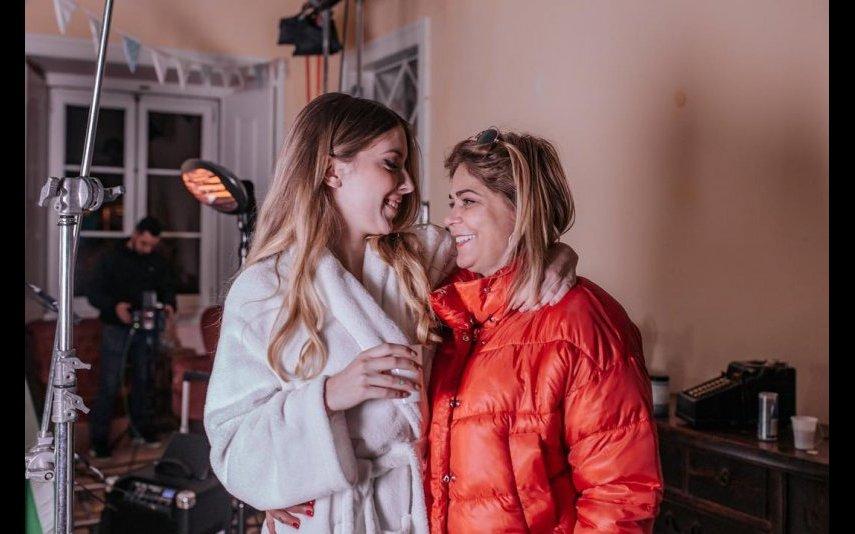 Sara Carreira com a mãe, Fernanda Antunes
