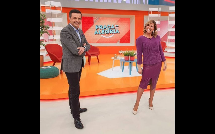 "Jorge Gabriel e Sónia Araújo na ""Praça da Alegria"", na RTP"