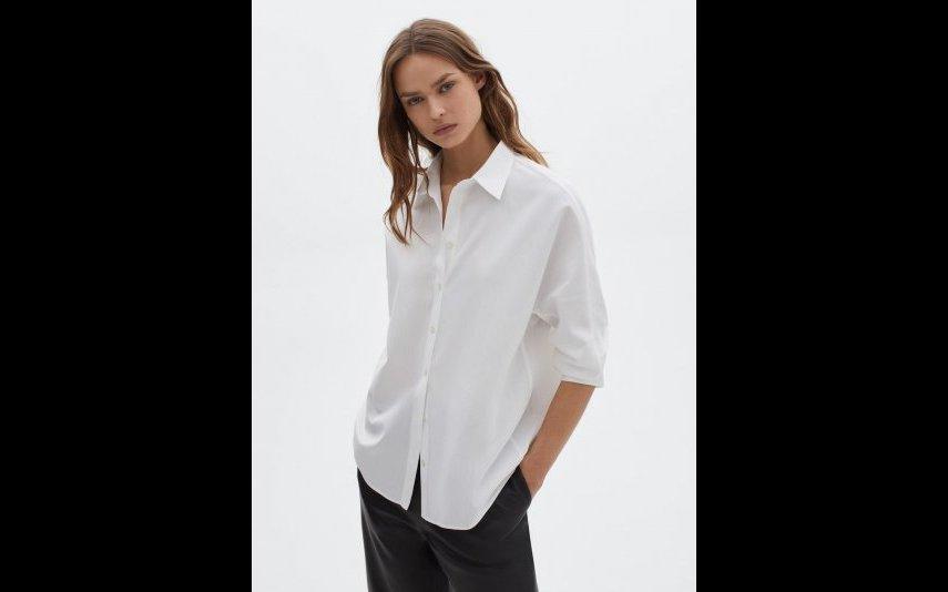 Camisa canutilho 100% algodão Massimo Dutti - 49,95€