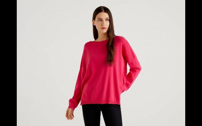 Camisola de decote redondo em algodão Benetton - 39,95€