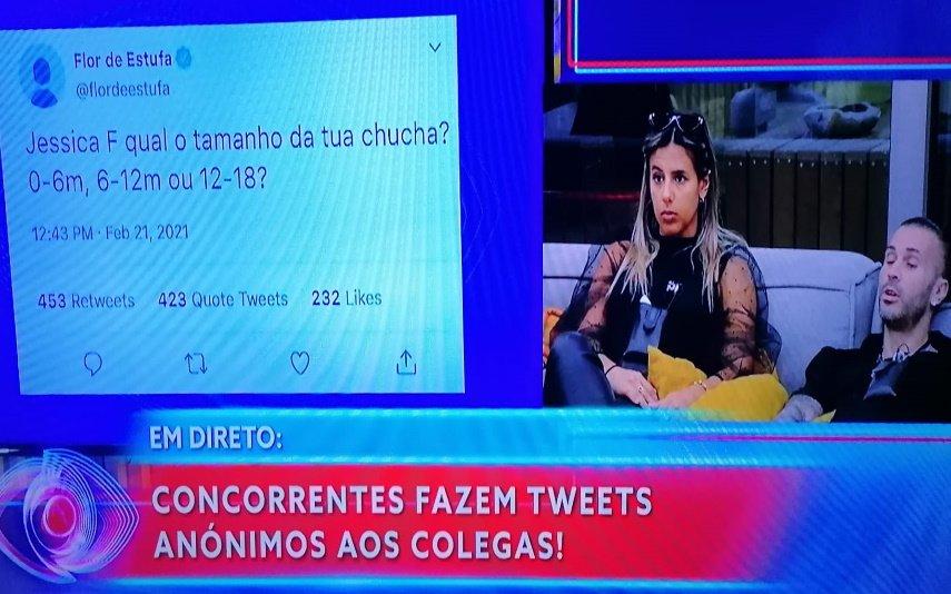 Big Brother, TVI, Sofia Sousa, Bruno Savate, Jéssica F., Jéssica Nogueira