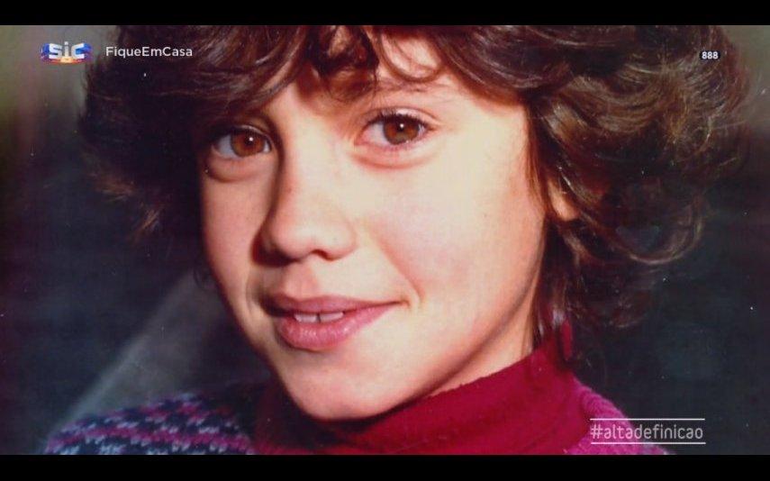 Xana Abreu durante a infância