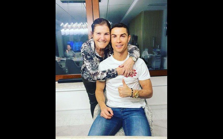 Dolores Aveiro com Cristiano Ronaldo