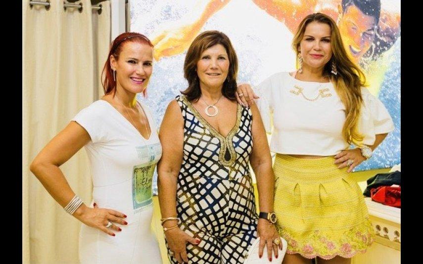 Dolores Aveiro com as filhas Elma e Katia