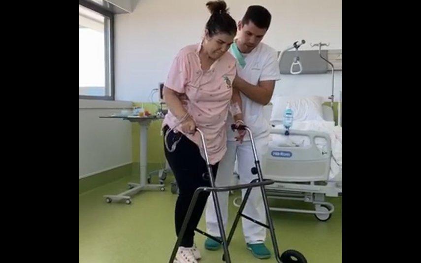 Dolores Aveiro recorda AVC com foto inédita no hospital