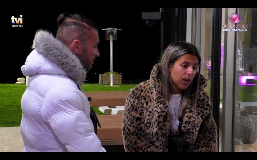 """Bruno Savate e Joana Albuquerque voltam a discutir no """"Big Brother"""""""