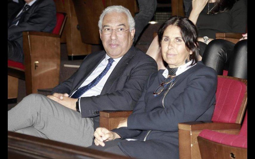 António Costa com a mulher Fernanda Tadeu