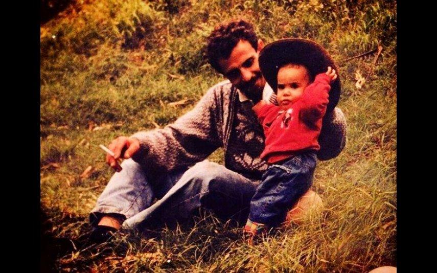 Carlos Costa na infância com o pai, Manuel Carlos