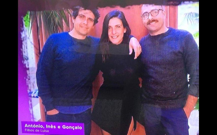 Luisa Castel-Branco tem três filhos: António, Gonçalo e Inês