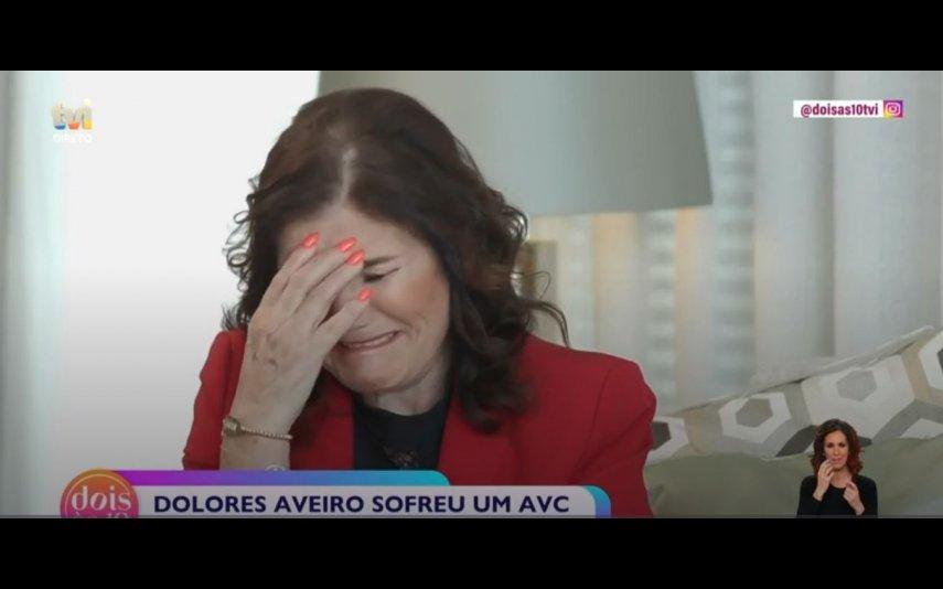 Dolores Aveiro a accordé une interview à Maria Botelho Moniz pour l'émission «Dois às 10»