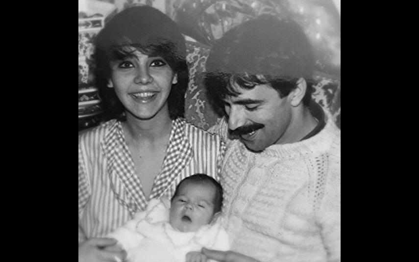 Sara Norte em bebé com os pais: Carla Lupi e Vitor Norte