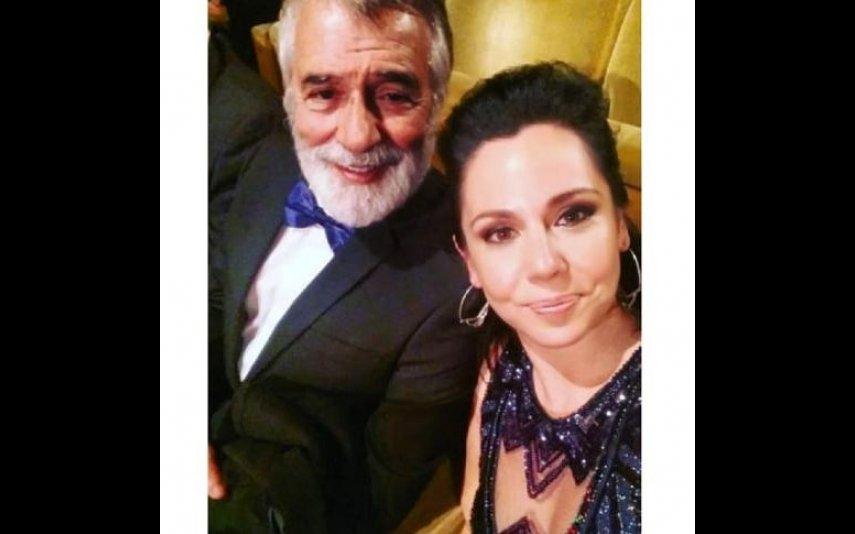 Sara Norte com o pai, Vitor Norte