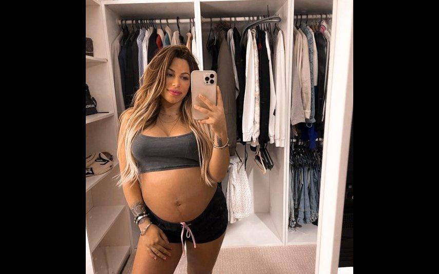 Joana Longoria durante a gravidez