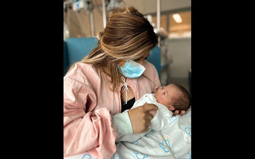 Joana Longoria com o filho