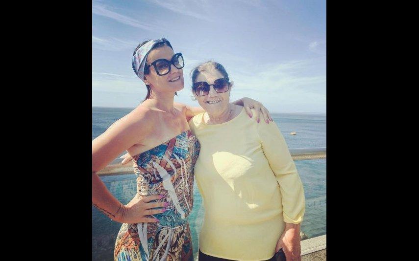 Elma Aveiro e a mãe Dolores