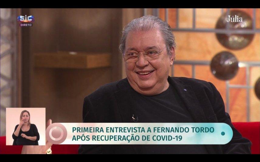 """Fernando Tordo marcou presença no programa """"Júlia"""" da SIC para recordar a sua luta contra a covid-19"""