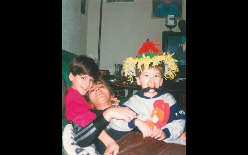 Mickael Carreira, a mãe, Fernanda Antunes, e David Carreira