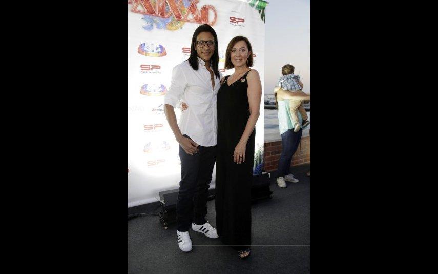 Maria João Abreu e o marido João Soares