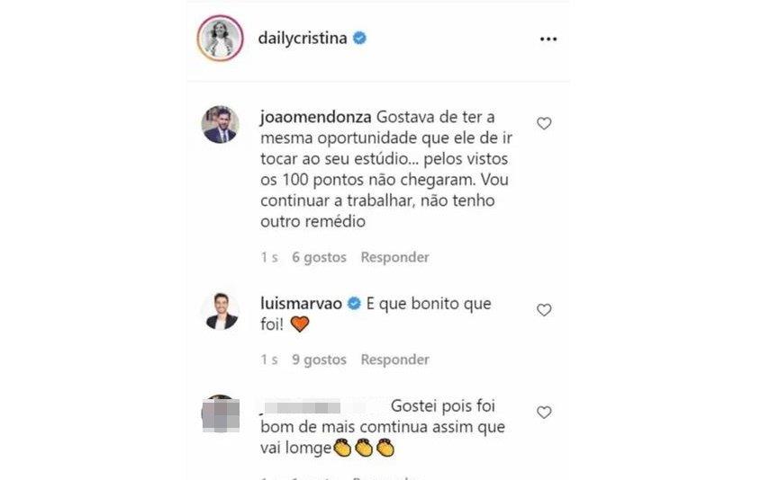 """Cristina Ferreira foi arrasada por concorrente do """"All Together Now"""""""