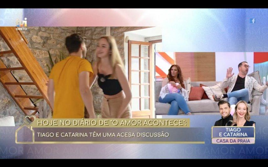 """No """"Diário"""" de """"O Amor Acontece"""", Flávio Furtado irritou-se com Luísa Castel-Branco"""