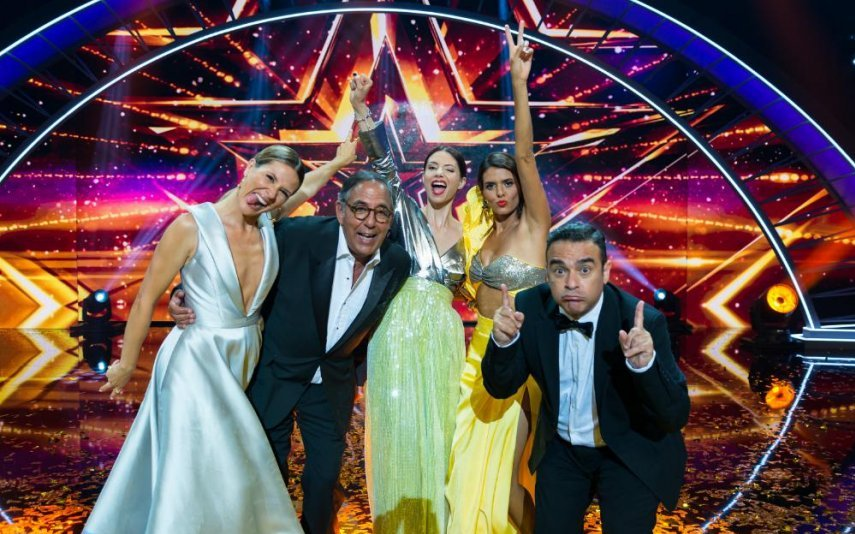 """A apresentadora e os jurados do """"Got Talent Portugal"""", da RTP1"""