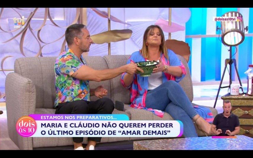 """Maria Botelho Moniz queimou-se em direto no """"Dois às 10"""", da TVI"""