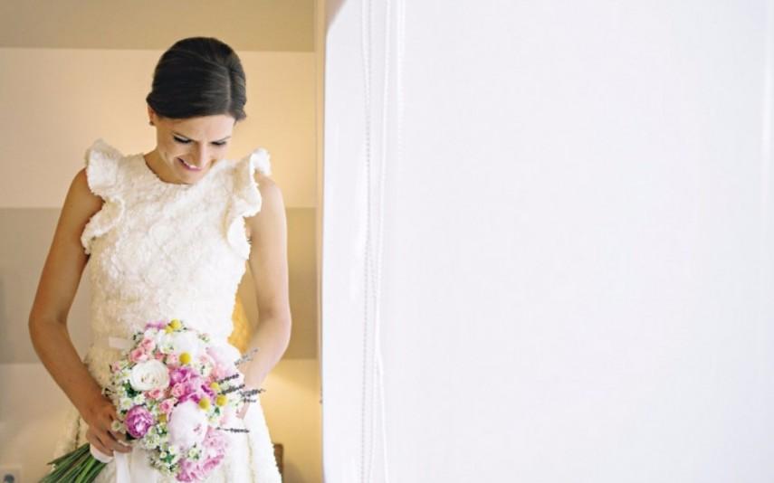 O vestido de noiva foi desenhado por Nuno Baltazar