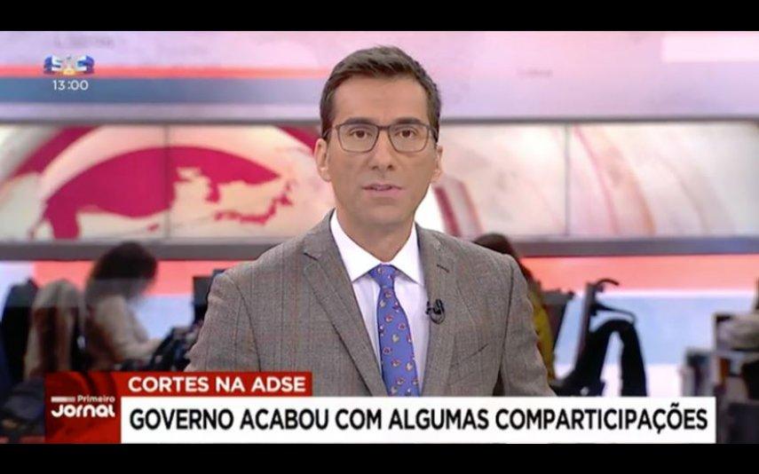 Bento Rodrigues com a gravata oferecida por Cristina Ferreira