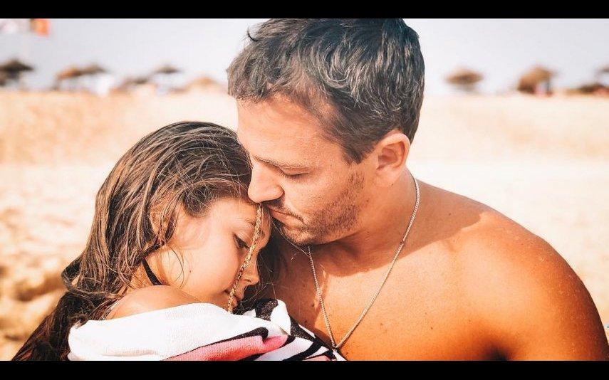 Pedro Teixeira com a filha Maria