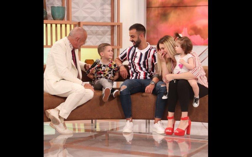 Bernardina Brito com Manuel Luís Goucha e a família