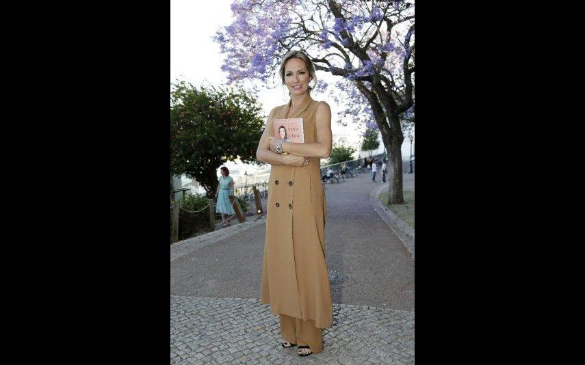 Fernanda Serrano na apresentação do seu novo livro
