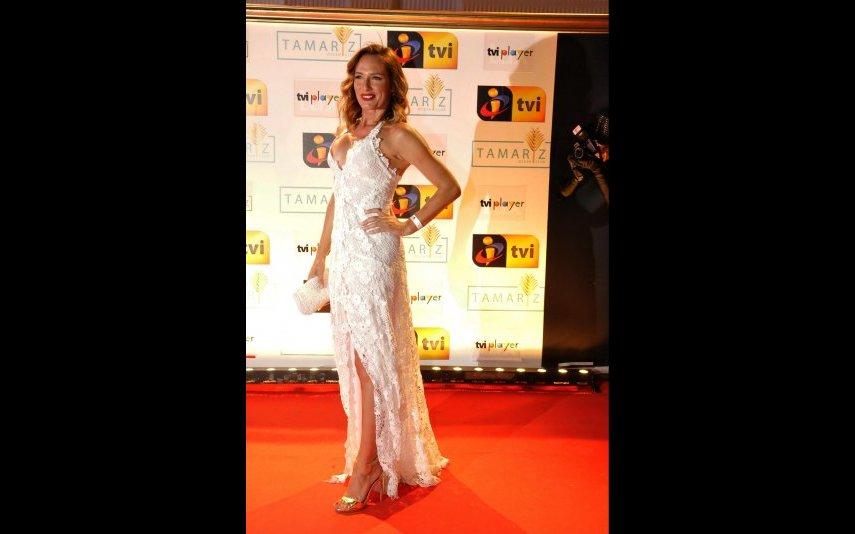 Fernanda Serrano numa das festas de verão da TVI