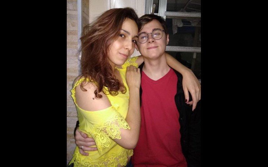 Rafael Miguel com a mãe