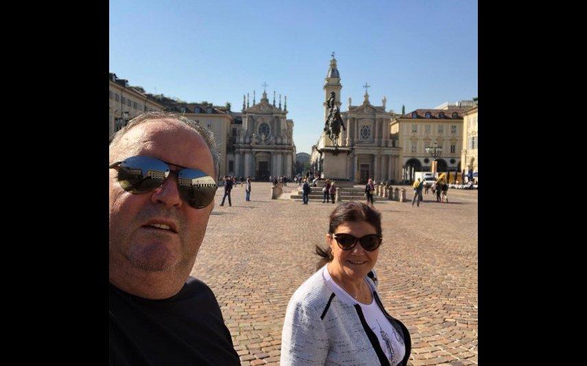 José Andrade e Dolores Aveiro em Roma