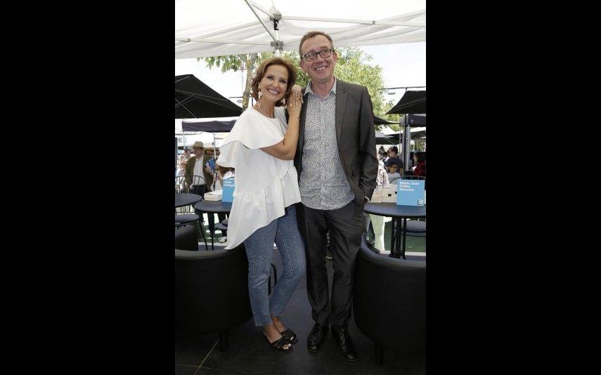 Cristina Ferreira com Jonathan Munro na Feira do Livro, em Lisboa