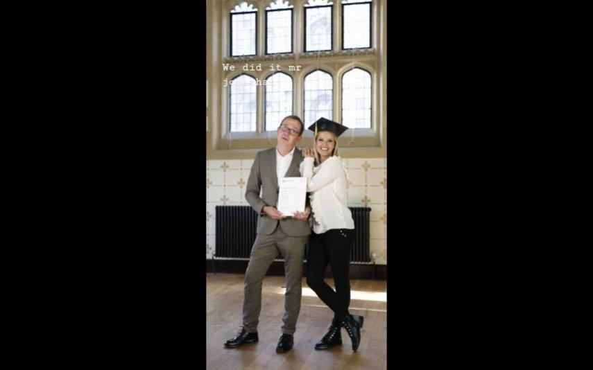 Cristina Ferreira e Jonathan Munro em Cambridge