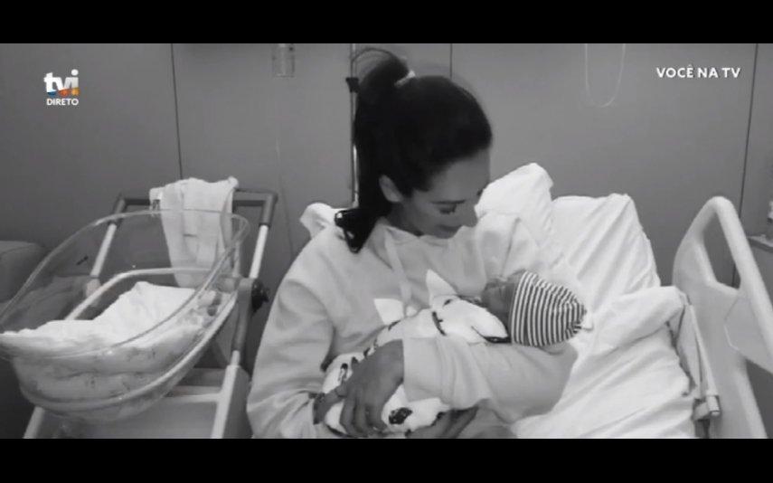 Rita Pereira e filho