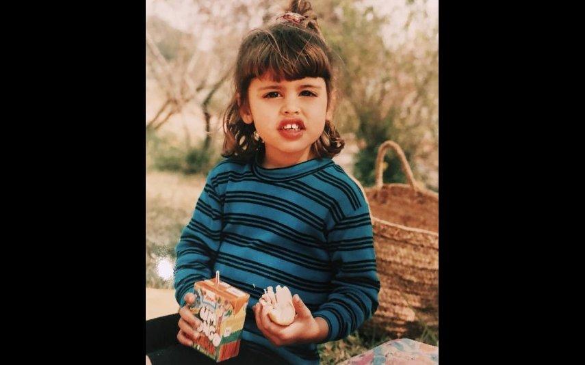Carolina Patrocínio quando era criança