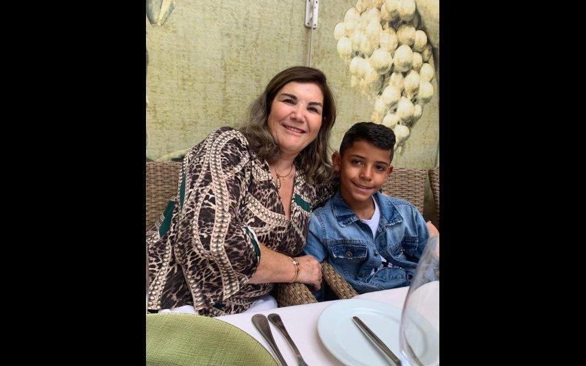 Dolores Aveiro e o neto Cristianinho