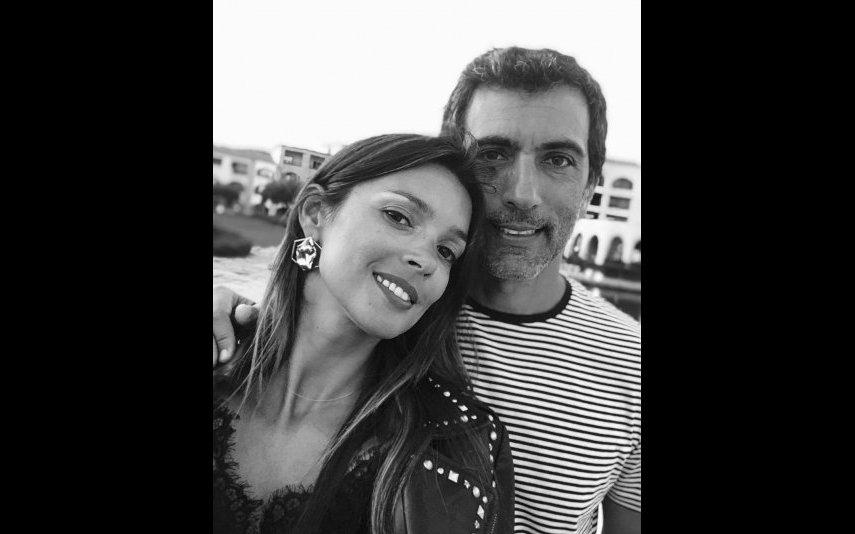 Maria Cerqueira Gomes ao lado do companheiro