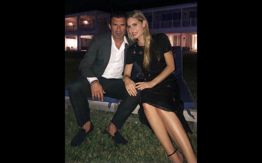 Luís Figo e a mulher