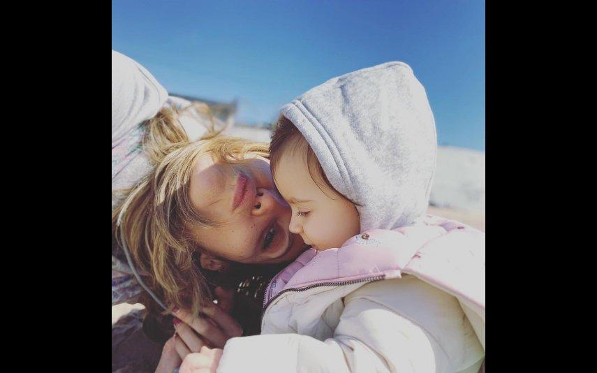 Andreia Rodrigues com a filha