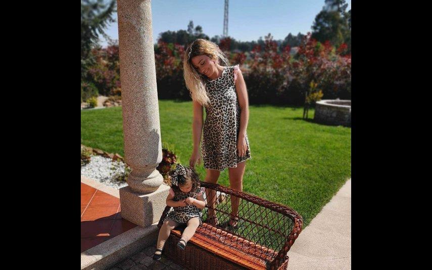 Sandra com a filha Alexa
