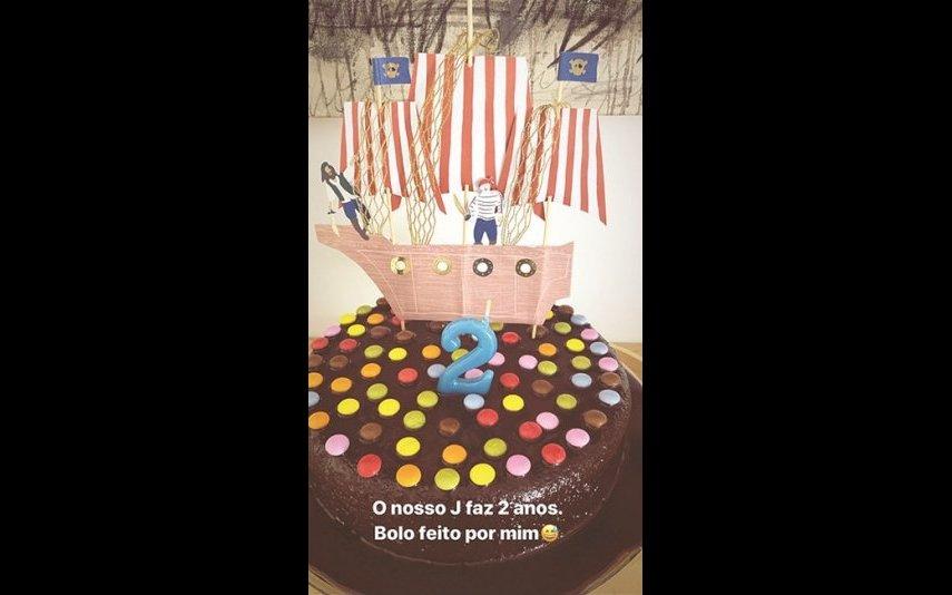 O bolo feito por Maria Cerqueira Gomes