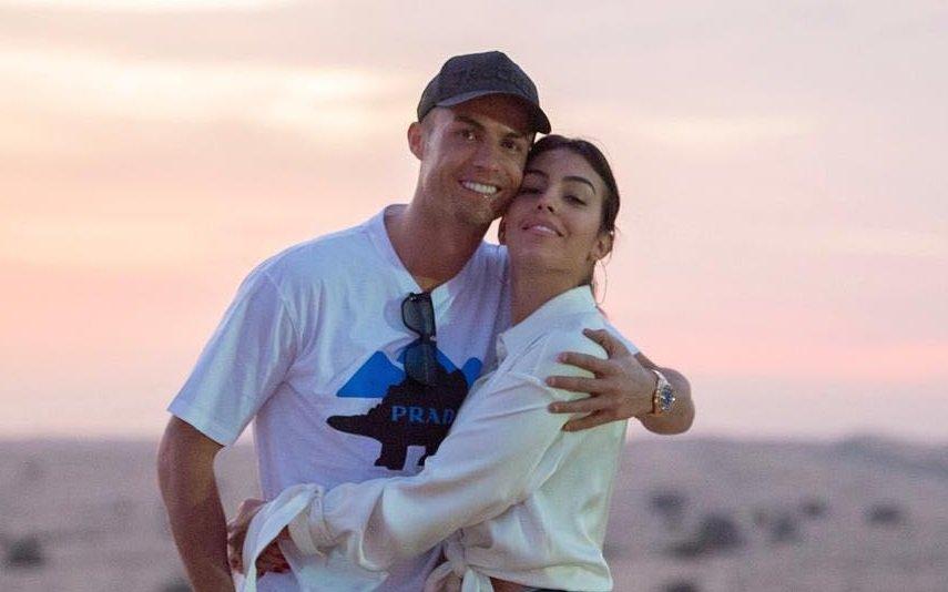 Cristiano Ronaldo com Georgina Rodríguez