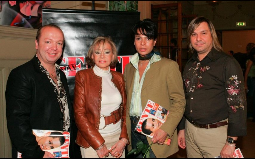 Castelo Branco e Betty Graffstein com Eduardo Beauté e João Rolo