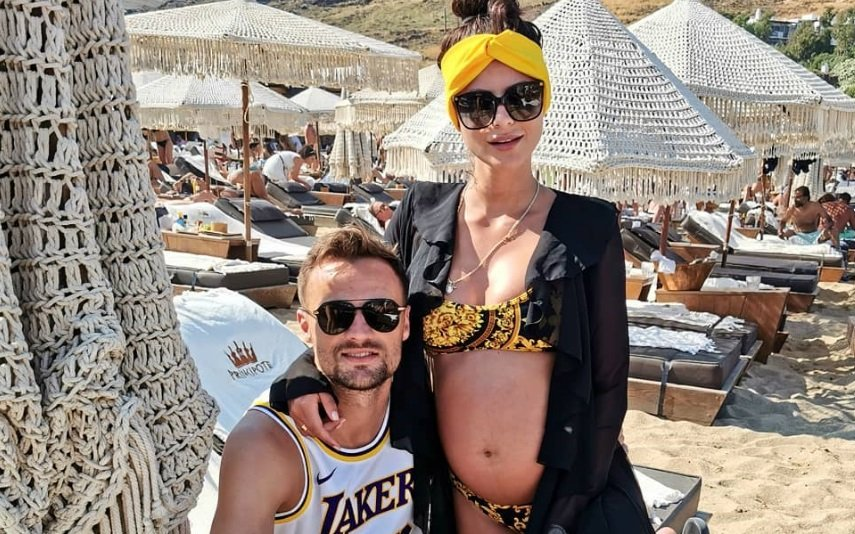 Haris Seferovic e a mulher, Amina Basic